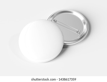 A mockup of a badge on white background 3D rendering