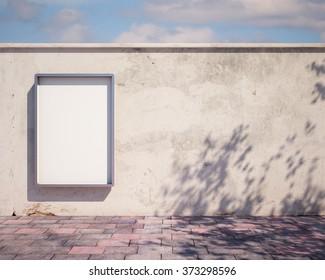 mockup billboard on the fence