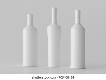 Mock-up Blank 3d illustration Alcohol Bottle, copy space packaging.
