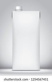Mockup for carton packaging drinks. 3d rendering