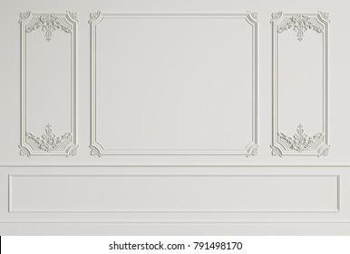 Mockup Classic Interior Wall 3d rendering