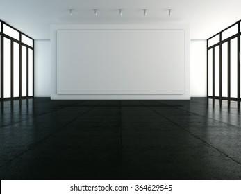 Mockup of empty white backdrop