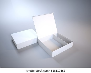 Mock-Up open box on a light background 3d