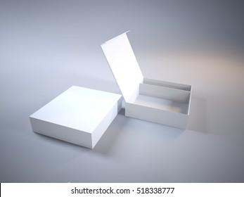 Mock-Up open cardboard box 3d