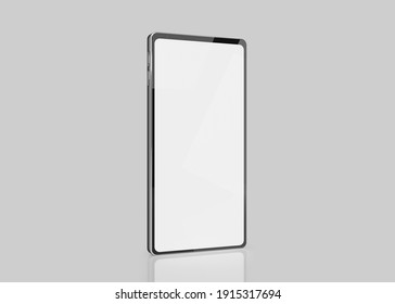 mockup of smartphone with blank screen for your design. 3d illustration