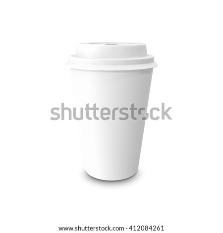 330683b1325 Mockup Takeout Coffee Thermo Cup Isolated Stock Illustration ...