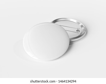 A mockup of two white badges on white background 3D rendering