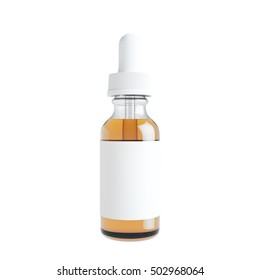 Mockup of Vape bottle with liquid on white background. Template. 3d rendering