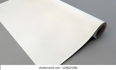 mockup of wrapping paper roll 3d rendering