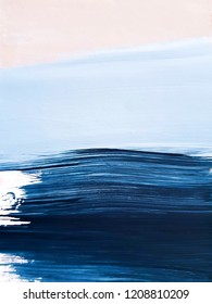 Modern Abstract Art Painting. Contemporary landscape painting .