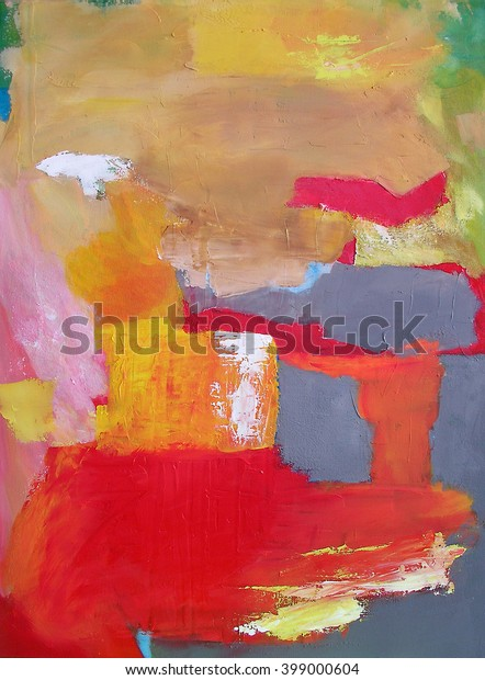 Modern Abstract Art Painting Geometric Squares