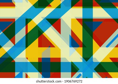 A modern abstract background pattern of lines and shapes in vivid multicolrs