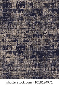 modern, abstract, ethnic  highly detailed abstract texture or grunge background. For art texture, , and vintage paper or border frame, damask pattern for carpet, rug,  scarf, clipboard, shawl pattern