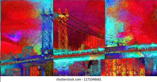 Modern Abstract, expressionism style. 3D rendering