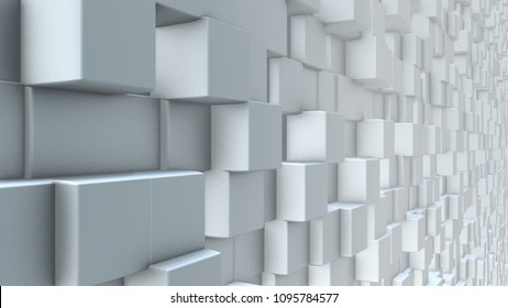 Modern abstract futuristic low-poly geometric cube pattern background 3d render graphic for text titles, virtual set or as wall paper.