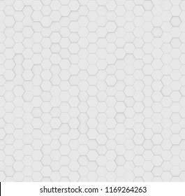 Modern abstract geometric tileable seamless texture for business, company and industry. Futuristic 3D rendering white hexagon pattern tile wall background. Origami paper style. Hexagonal elements.