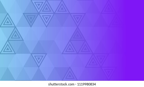 Modern abstract geometric triangular purple gradient background banner