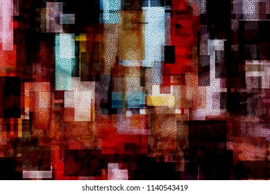 Modern abstract. Times Square Inspired. 3D rendering