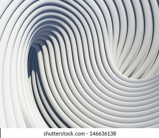 Modern architectural shapes design. Creative curves conceptual background