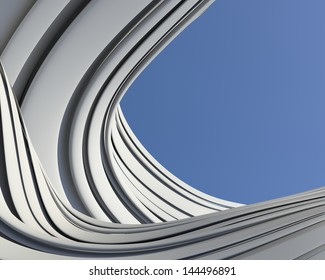Modern architectural wallpaper. Creative imagination fantastic conceptual background