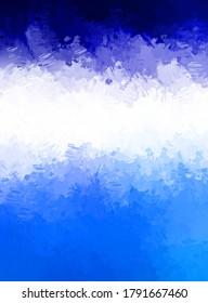 Moderne Kunst. Pinselstrich abstrakter Hintergrund. Pinselstrichmalerei. Anstrich von Farbe. 2D-Illustration.