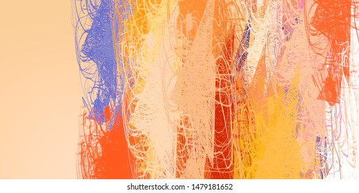 Modern art drawing painting. 2d illustration. Digital texture wallpaper. Artistic sketch draw backdrop material. Crazy sketch random pattern creation. Creative chaos and variety mix structure form.