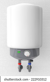 Modern Automatic Water Heater on a wall background