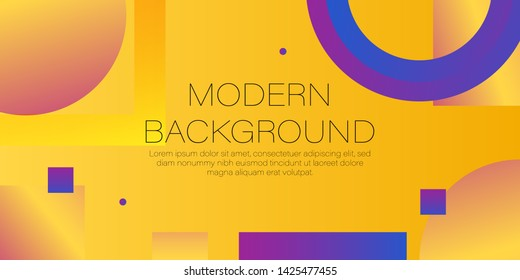 modern background abstrac on yellow background