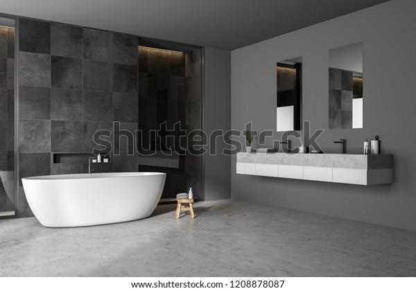 Illustration de stock de Coin salle de bain moderne avec ...
