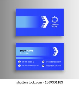 modern beautiful business card creative blue visiting card awesome design