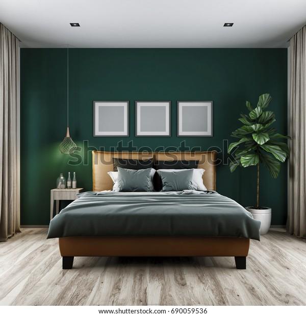 Illustrazione stock 690059536 a tema Camera da letto moderna ...