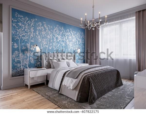 Interior Designer Camera Da Letto.Illustrazione Stock 607822175 A Tema Camera Da Letto Moderna