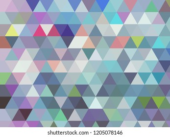modern blue geometric low poly triangle abstract angular design in modern cool light blue tones with different coloured accents