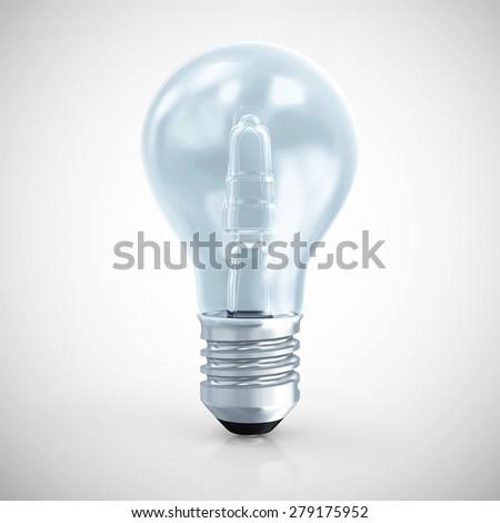Modern Blue Light Bulb On Gradient Stock Illustration