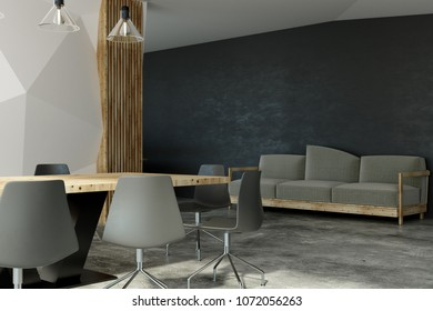 modern boardroom interior with louge area 3d rendering