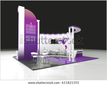 D Exhibition Design : Modern booth exhibition design d image stock illustration