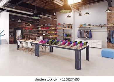 modern boutique interior loft design. 3d rendering