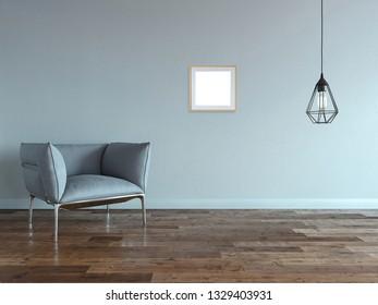 modern bright interior. 3D illustration