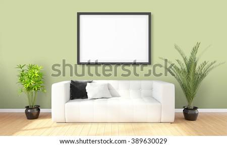 Fußboden Modern Talking ~ Modern bright interior d render stockillustration