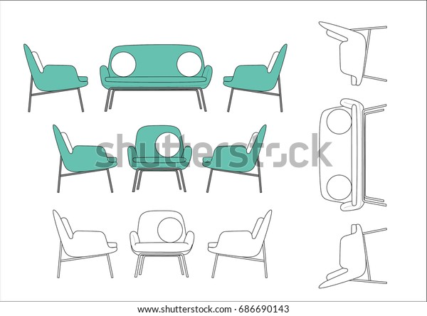Modern Chair Illustration