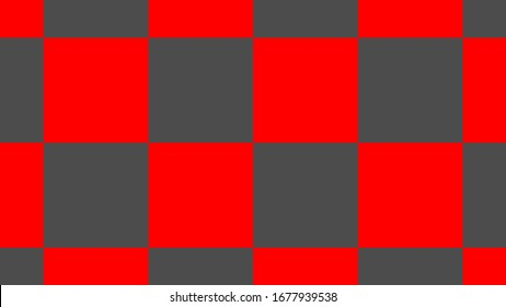 Modern Checkered Pattern Red And White Texture Chess Print,Checker abstract image