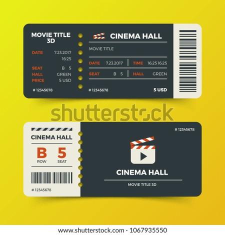 modern cinema movie tickets design ticket stock illustration