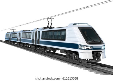Modern Train Isolated Stock Illustrations, Images & Vectors