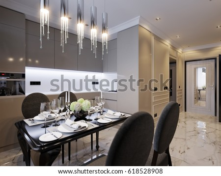 Royalty Free Stock Illustration Of Modern Classic Kitchen Interior