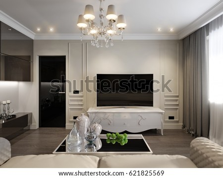 modern classic new traditional living room stock illustration