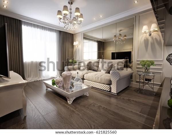 Living Room Design Brown