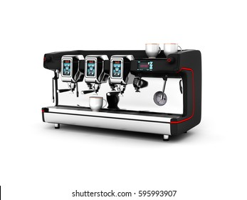 Modern Coffee Machine isolated on white background 3d
