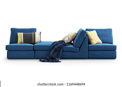 Two legal age teenagers in satin sofa