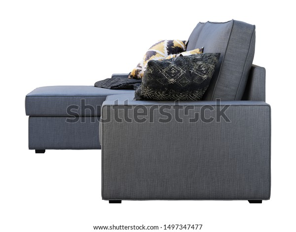 Phenomenal Modern Dark Gray Fabric Sofa Chaise Stock Illustration Camellatalisay Diy Chair Ideas Camellatalisaycom