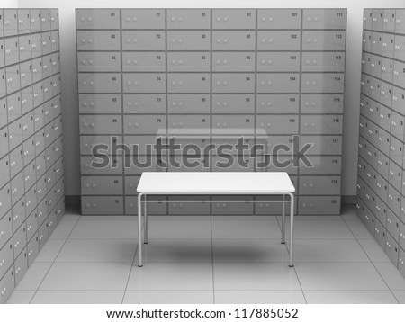 Modern deposits bank safe interior stock illustration royalty
